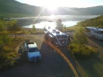 Stagecoach Reservoir behind us.