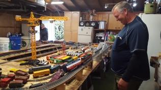Dad's train set under construction (he wrecked it, heh)